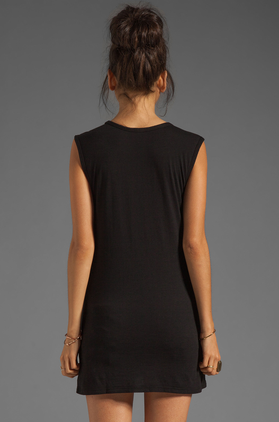 Bobi Slub Pocket Tank in Black