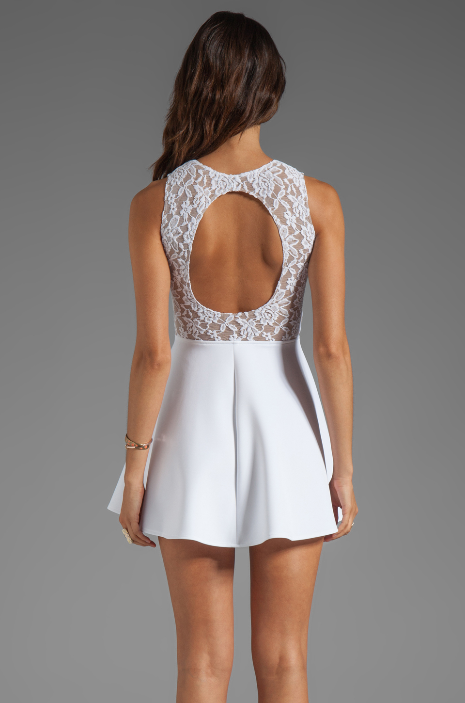 Boulee Avery Tank Dress in White Lace