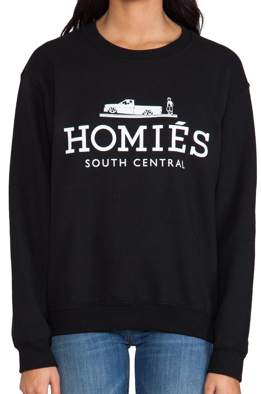 Brian Lichtenberg Homies Sweatshirt in Black/White
