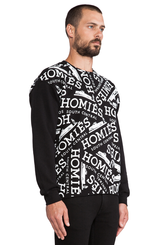 Brian Lichtenberg Homies Graffiti Sweatshirt in Black/White