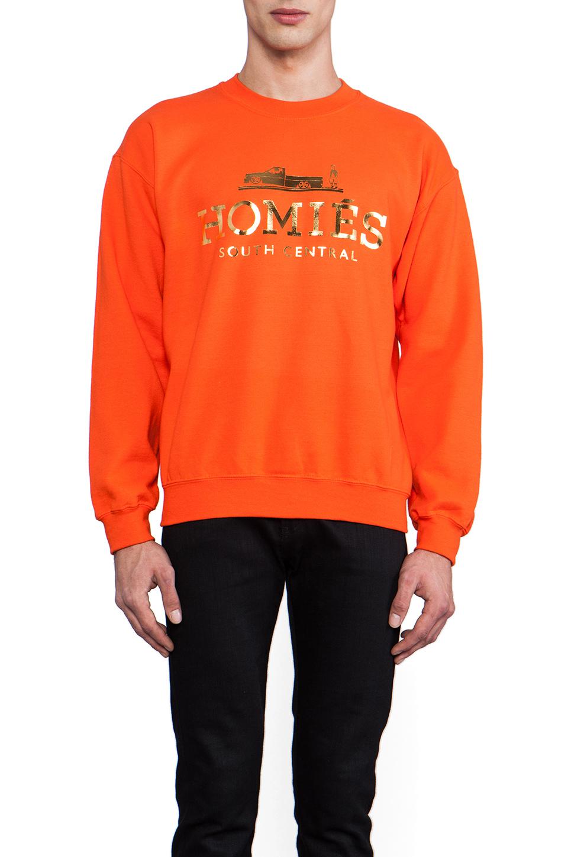 Brian Lichtenberg Homies Sweatshirt in Orange/Gold-Foil