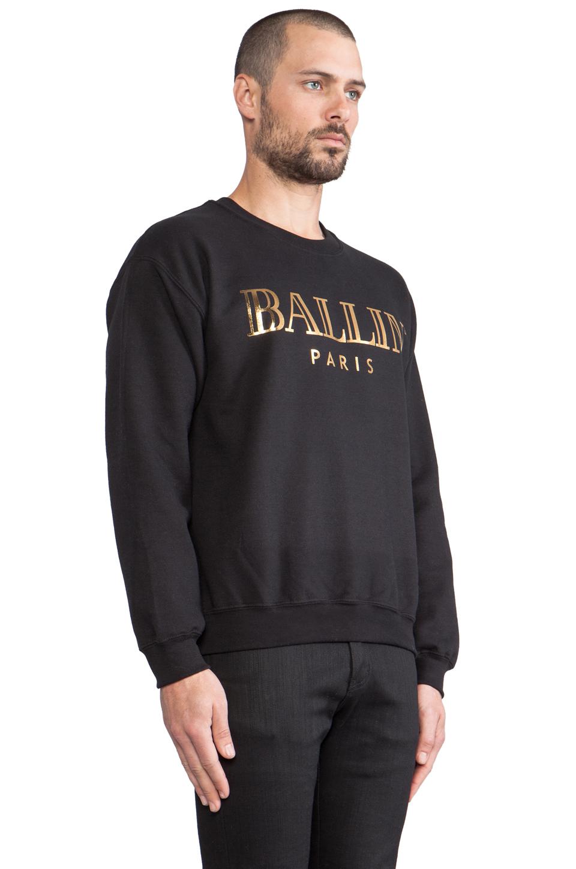 Brian Lichtenberg Ballin Sweatshirt in Black/Gold Foil