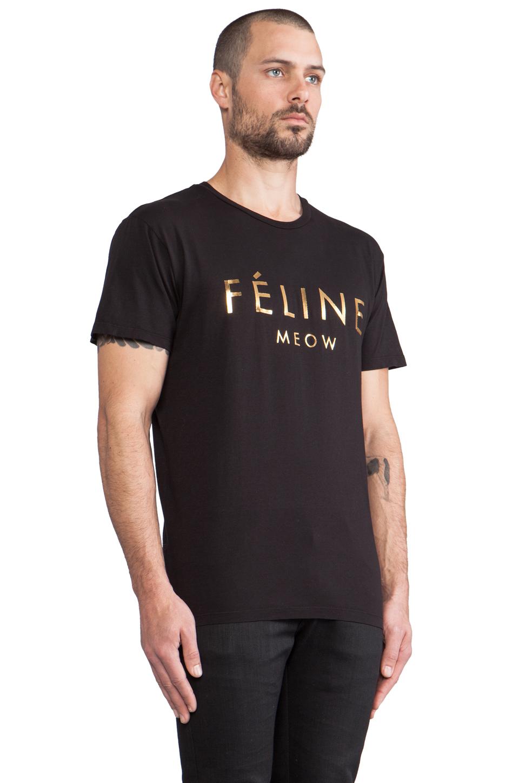 Brian Lichtenberg Feline Tee in Black/Gold