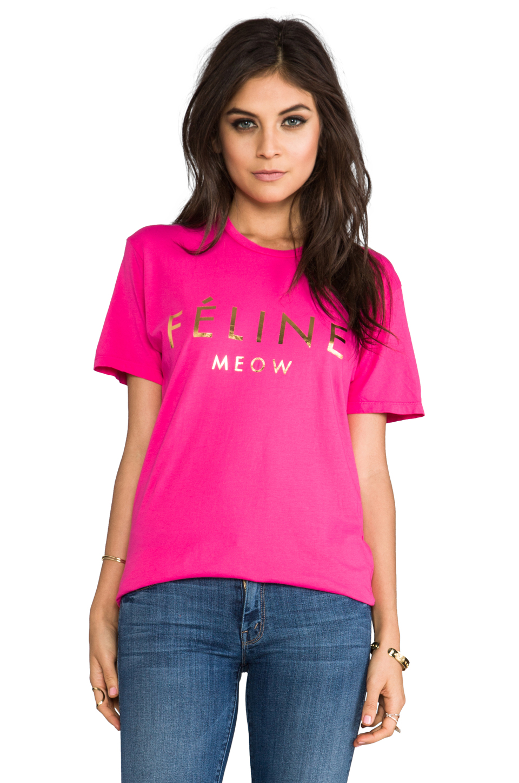 Brian Lichtenberg Feline Tee in Pink/Gold Foil