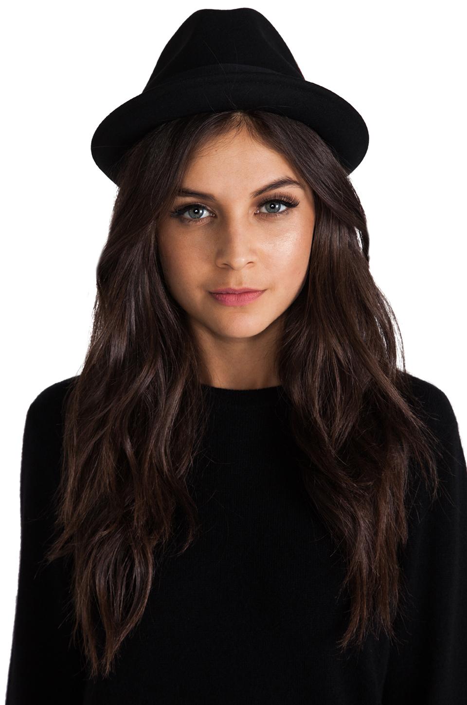 Brixton Gain Black Felt Hat