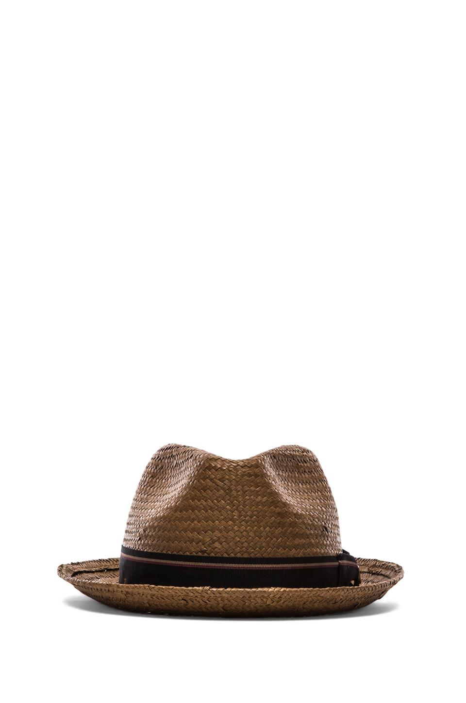 Brixton Castor Brown Straw Hat
