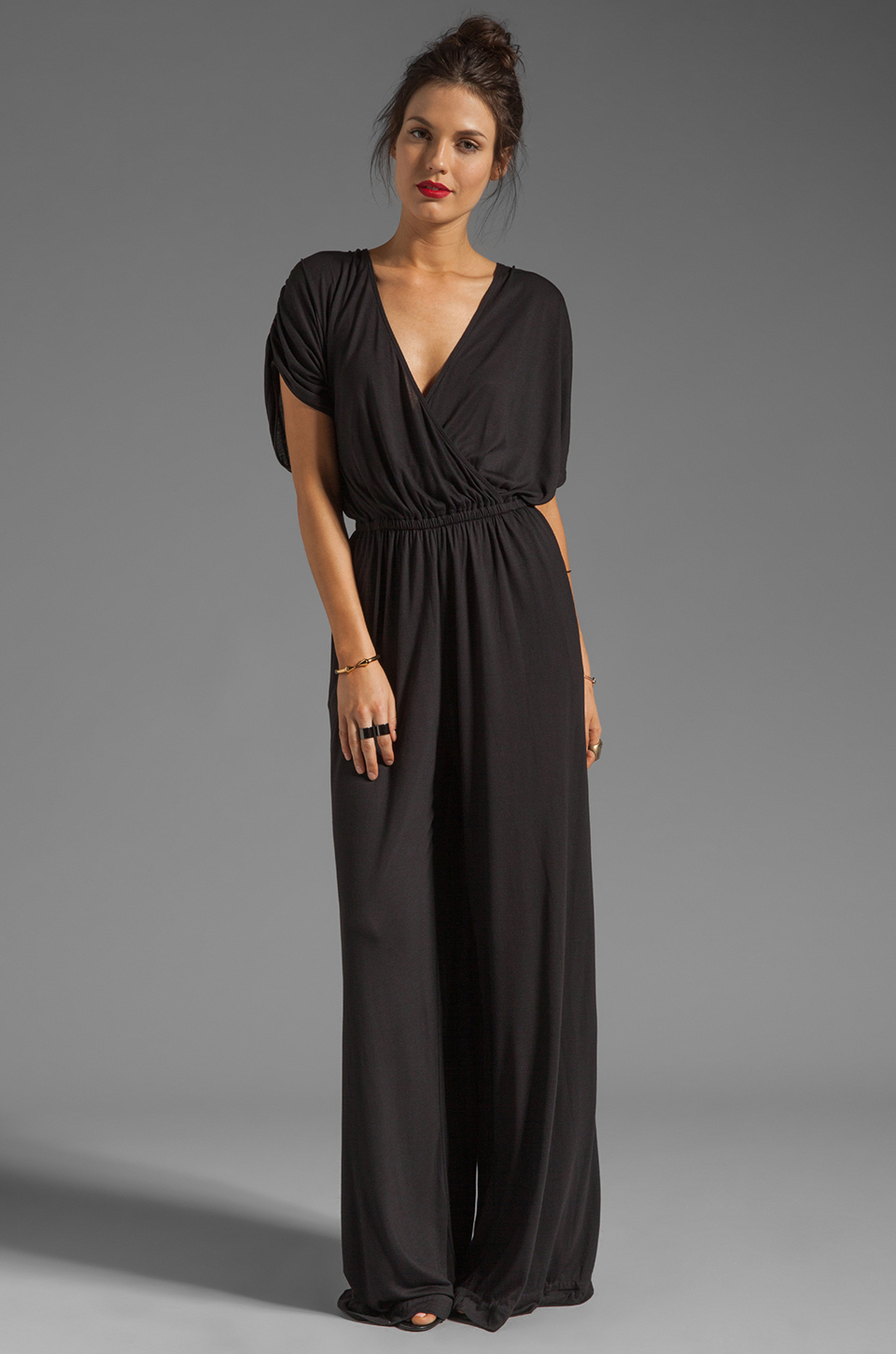 By Malene Birger Viscose Jersey Tytan Jumpsuit in Black