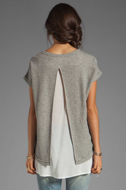 BY ZOE Rabat Top in Grey