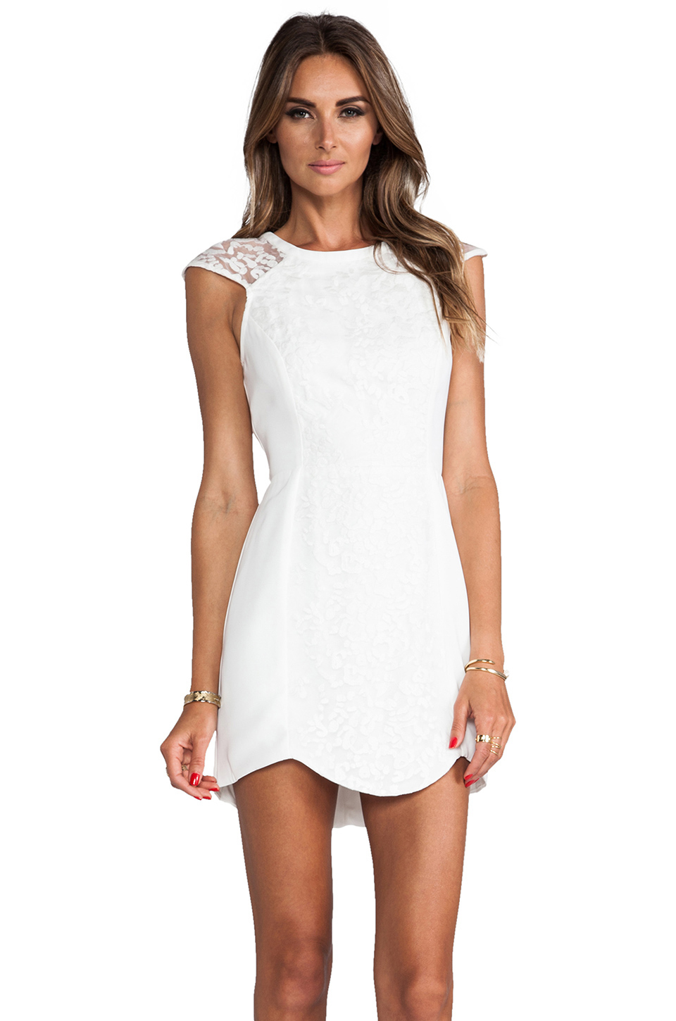 Cameo Into the Flame Dress in Ivory