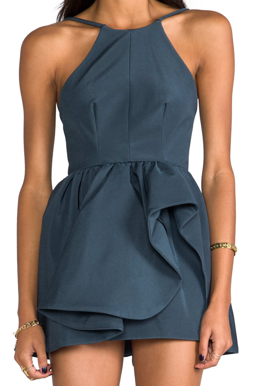 Cameo Winter Wind Dress in Graphite Blue