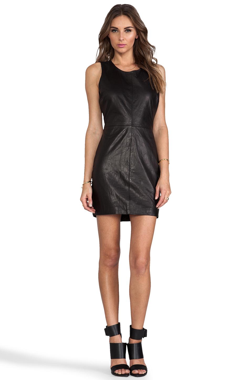 Capulet Leather Tank Dress in Black