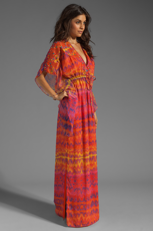 Catherine Malandrino Kaftan Dress in Surfer Print