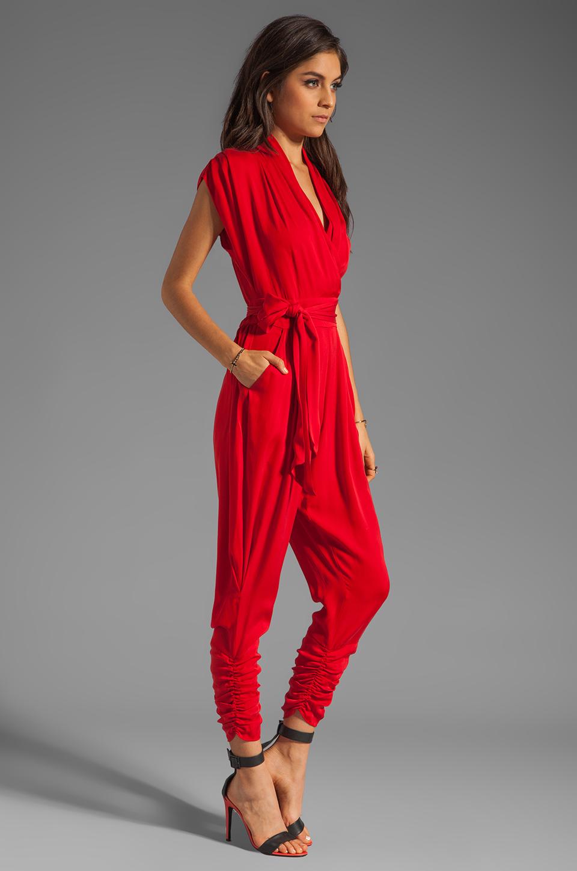 Catherine Malandrino Favorites Cap Sleeve Jumper in Scarlet