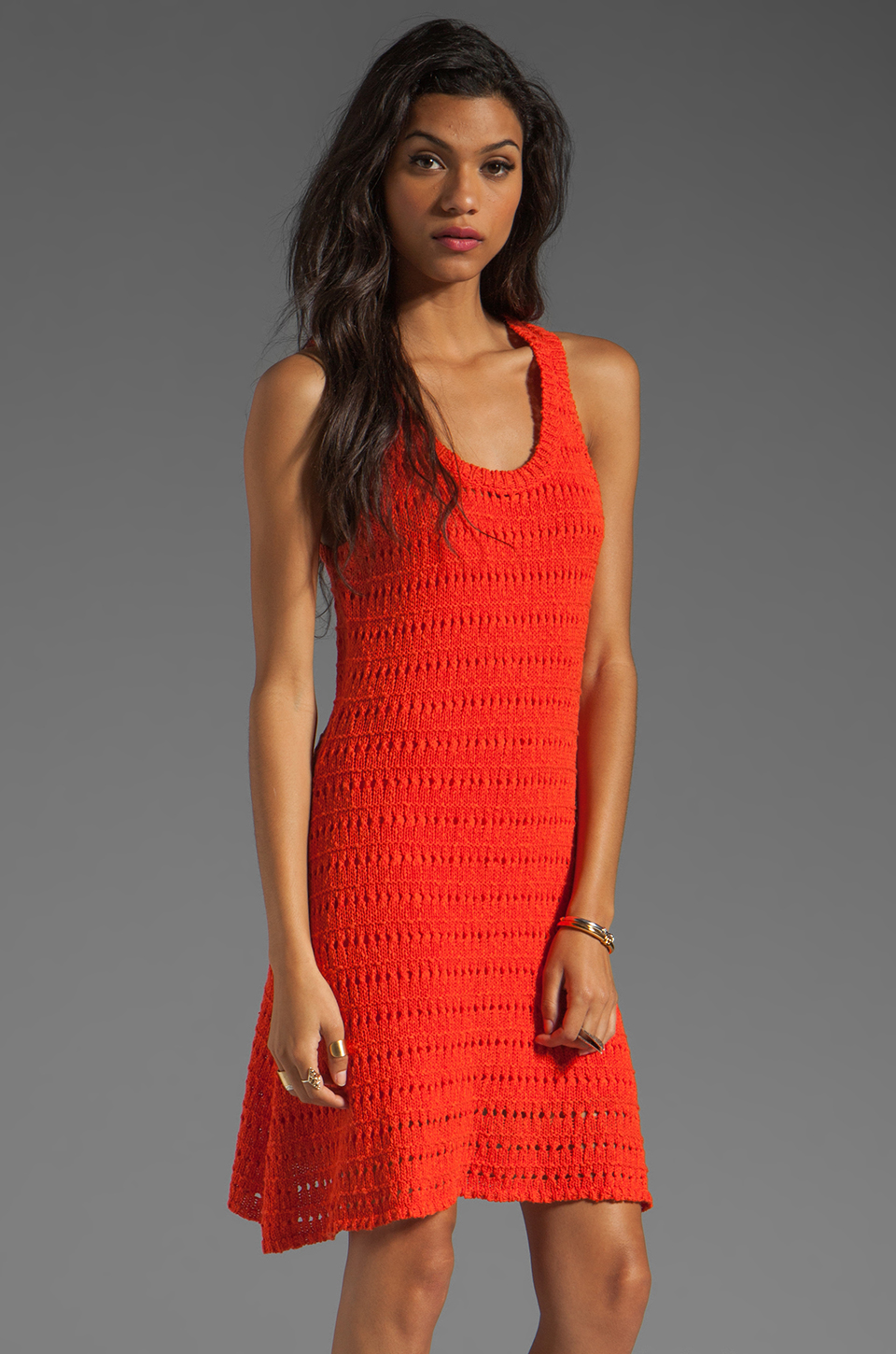 Central Park West Amelia Island Tank Dress in Orange