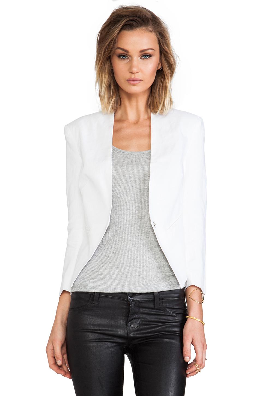 Central Park West Durham Linen Jacket in White