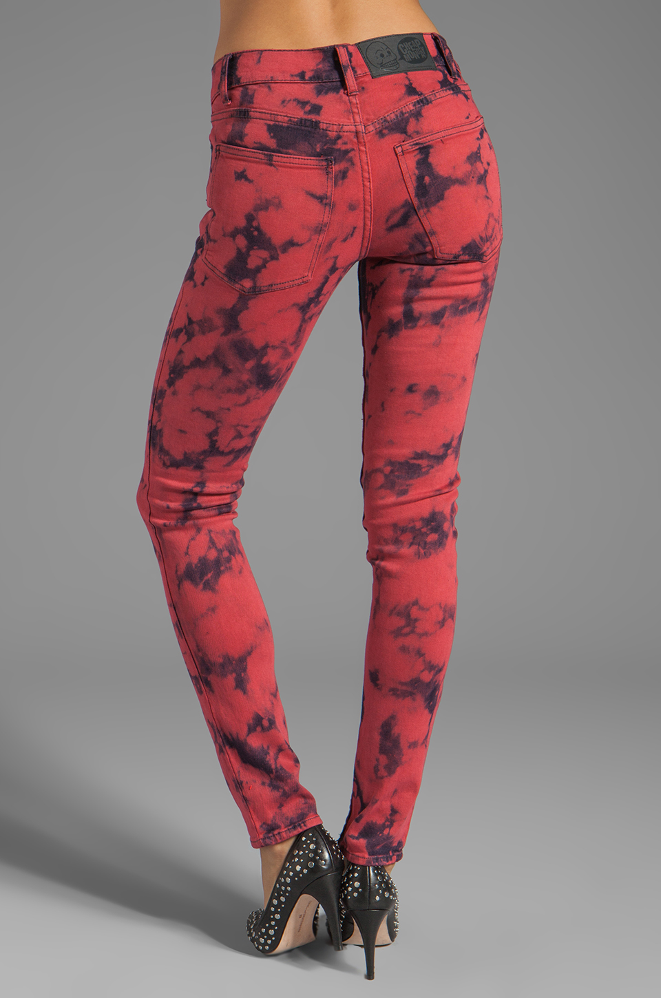 Cheap Monday Tight Jeans in Bonjour Red