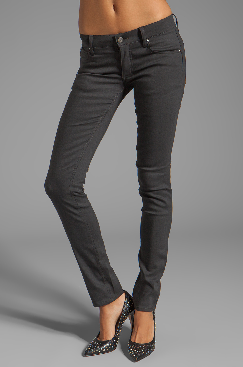 Cheap Monday Narrow Jeans in Unwashed Grey