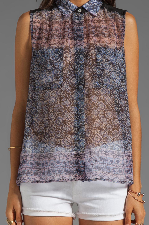 Charles Henry Sleeveless Workshirt in Batik Print