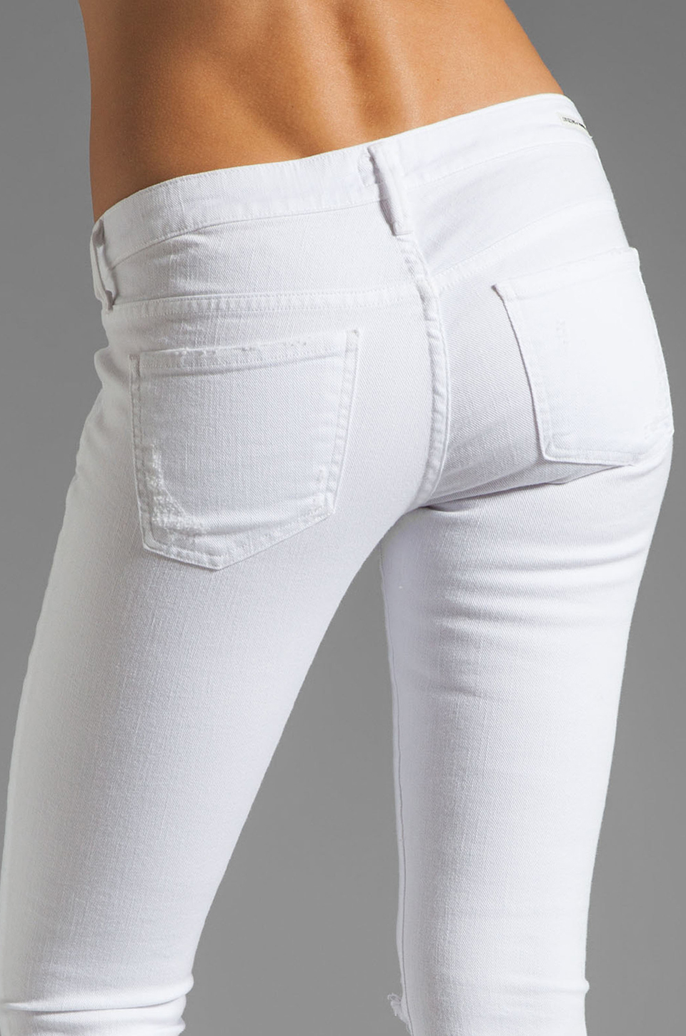 Citizens of Humanity Racer Lowrise Skinny in Distressed Santorini