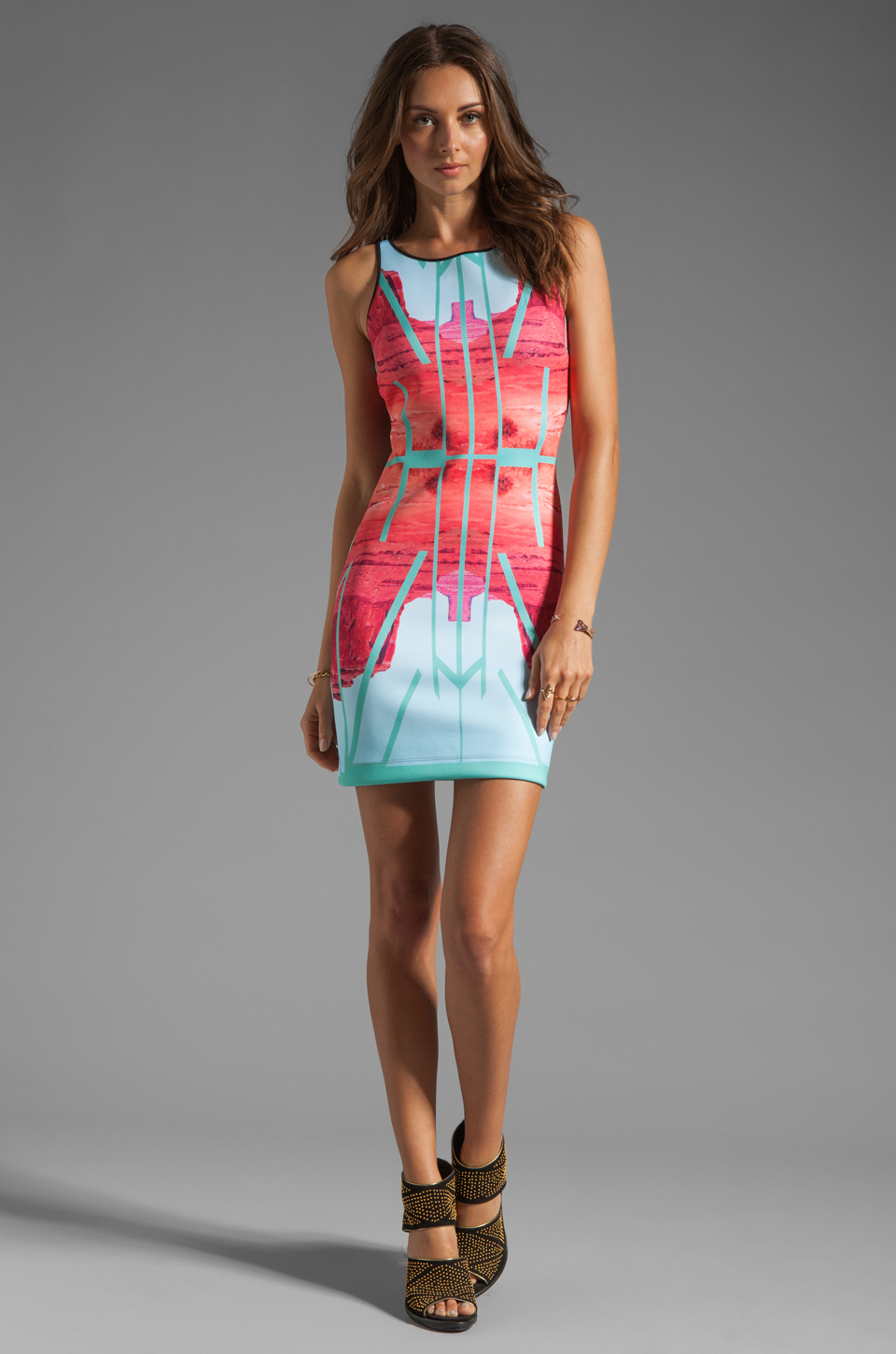 Clover Canyon EXCLUSIVE Lone Rider Neoprene Dress in Multi