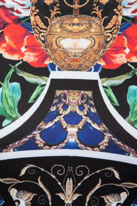 Clover Canyon Royal Egg Vase Neoprene Dress in Blue
