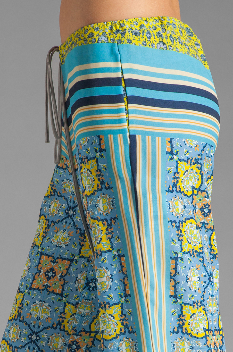 Clover Canyon Art Deco Tiles Wide Leg Pants in Multi