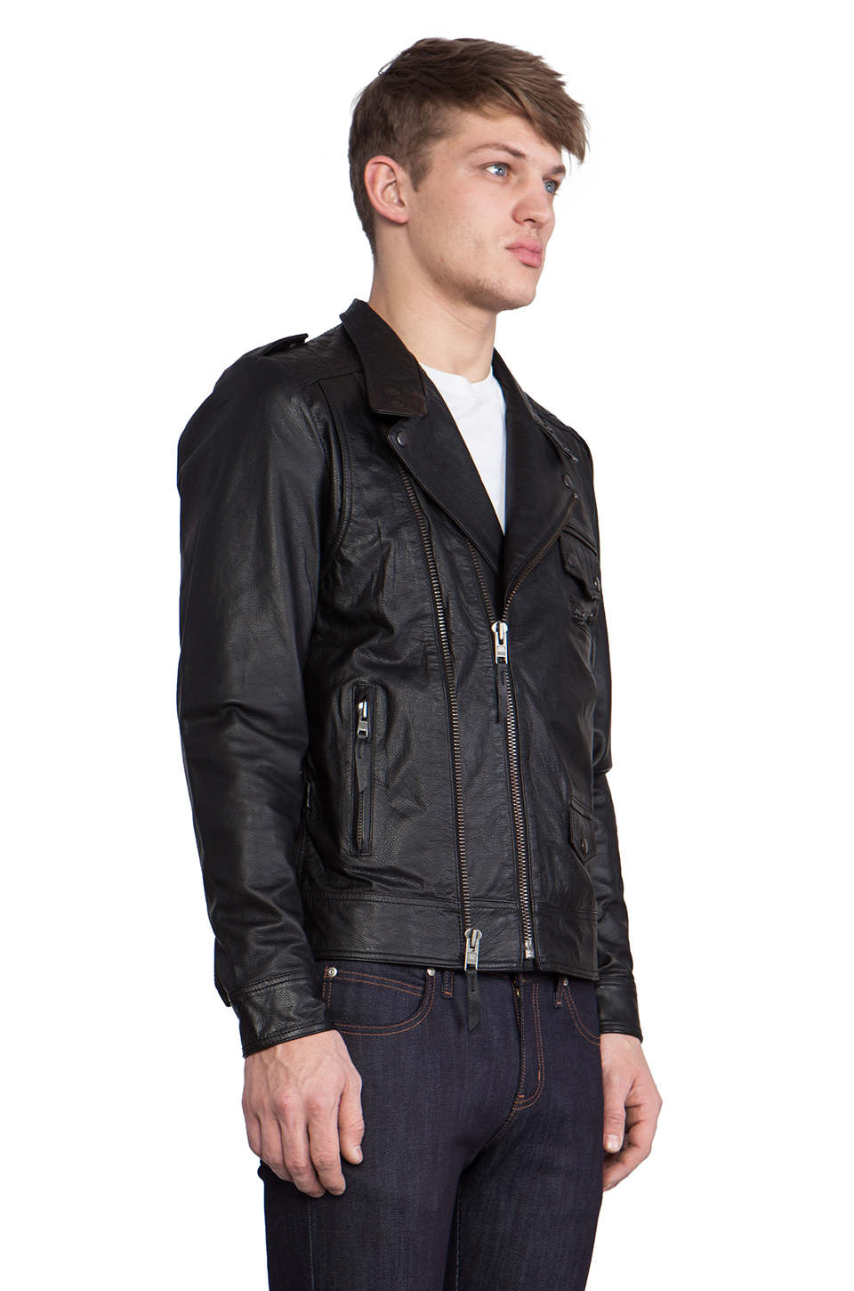 COMUNE Mitchell Motorcycle Jacket in Black