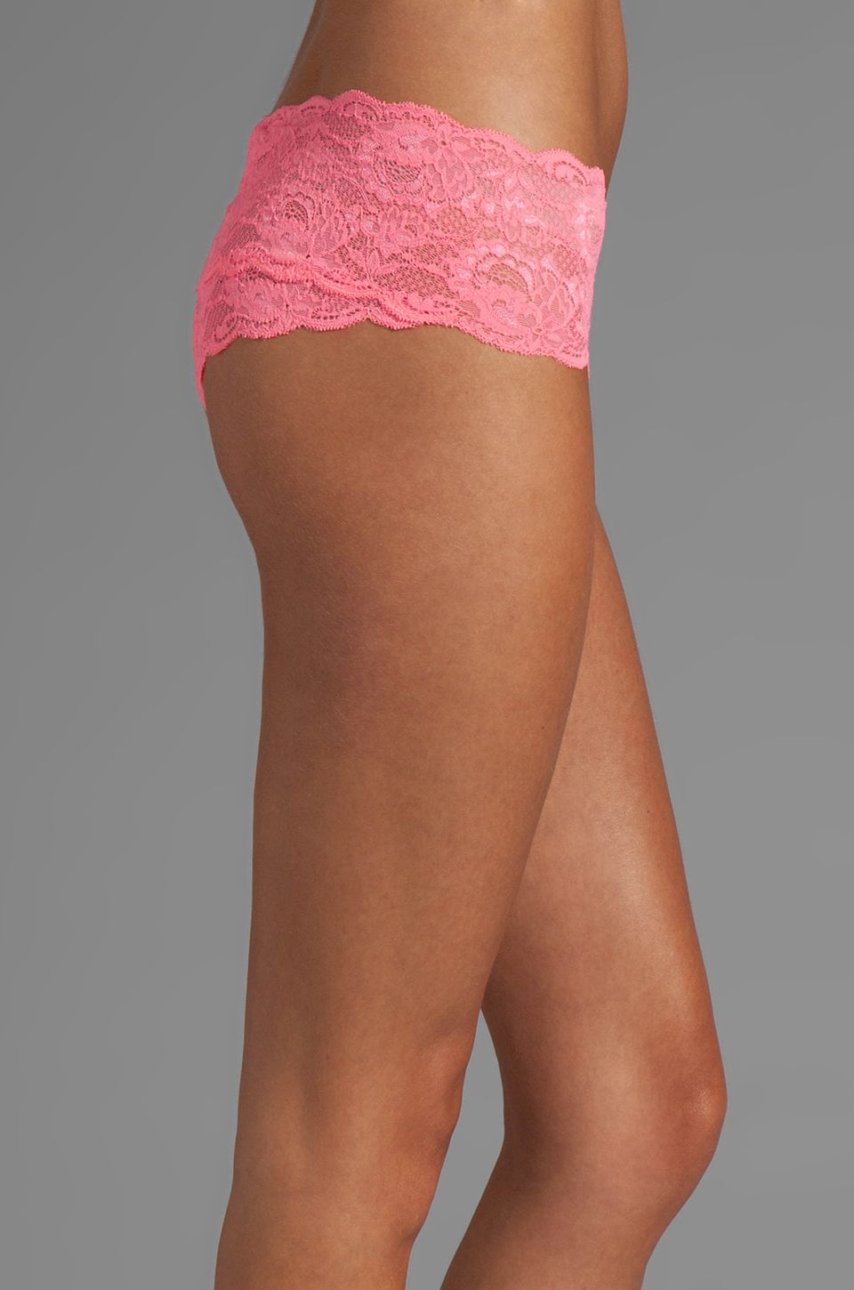 Cosabella Never Say Never Hottie Hot Pant in Neon Rose