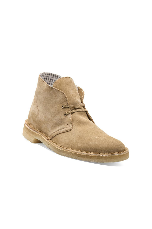 clarks originals desert boot in oakwood suede revolve