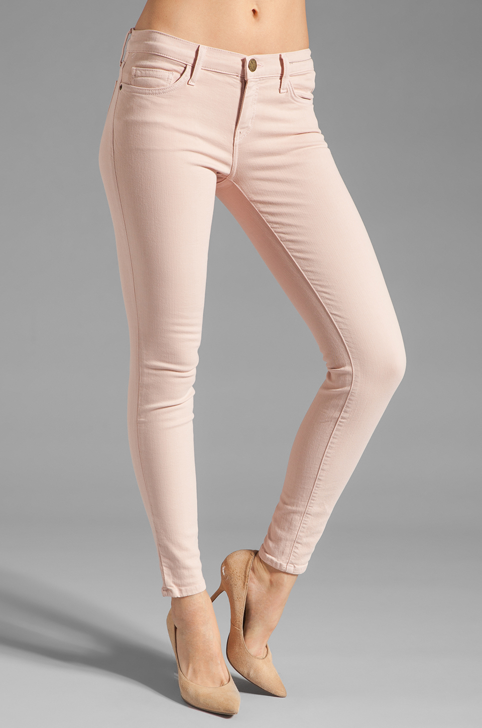Current/Elliott The Ankle Skinny in Rose Smoke