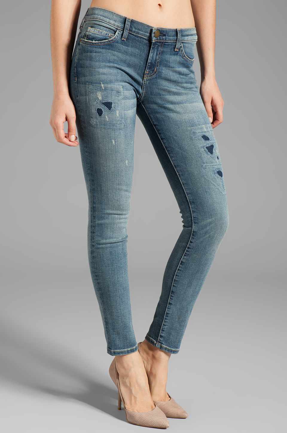 Current/Elliott The Ankle Skinny in Pixie w/Repair
