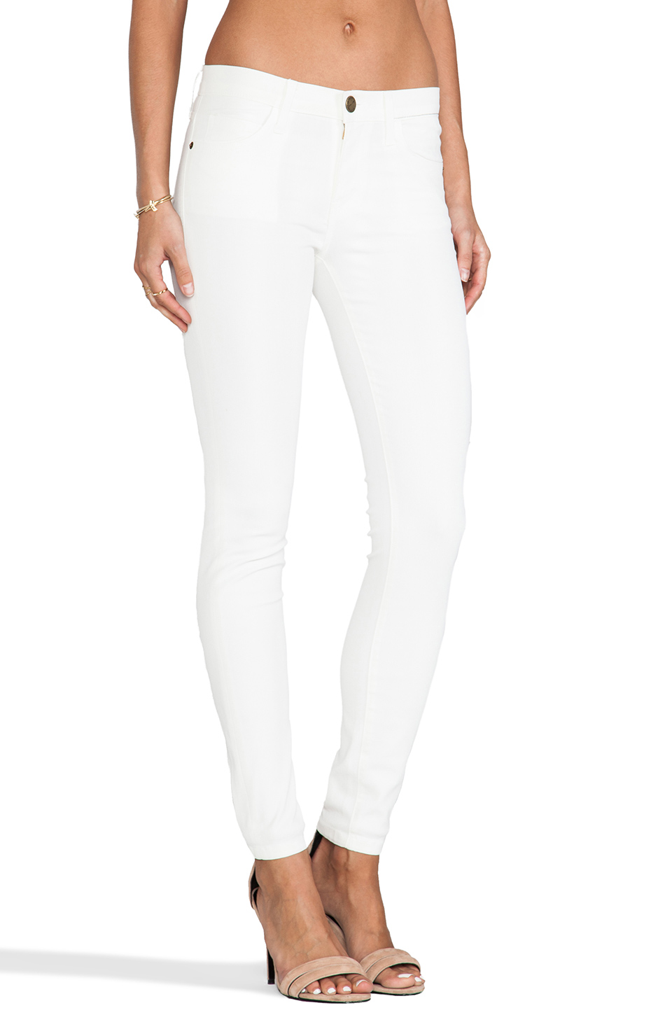 Current/Elliott The Ankle Skinny in White Coated