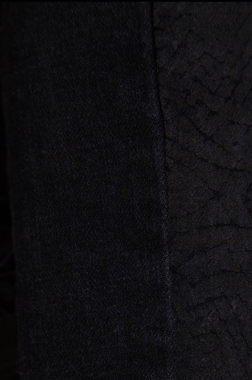 Current/Elliott The Easy Biker w/ Coated Sleeves in Black