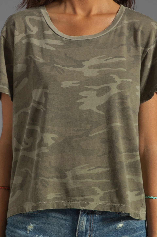 Current/Elliott The Freshman Tee in Army Camo