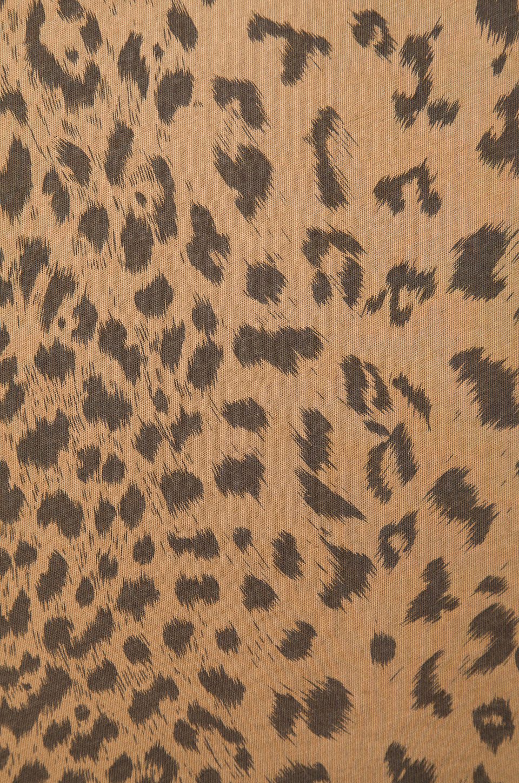 Current/Elliott The Freshman Tee in Camel Leopard