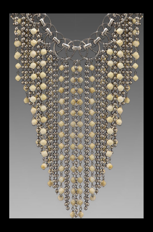 DANNIJO Glynn Necklace in Ox Silver/Bone