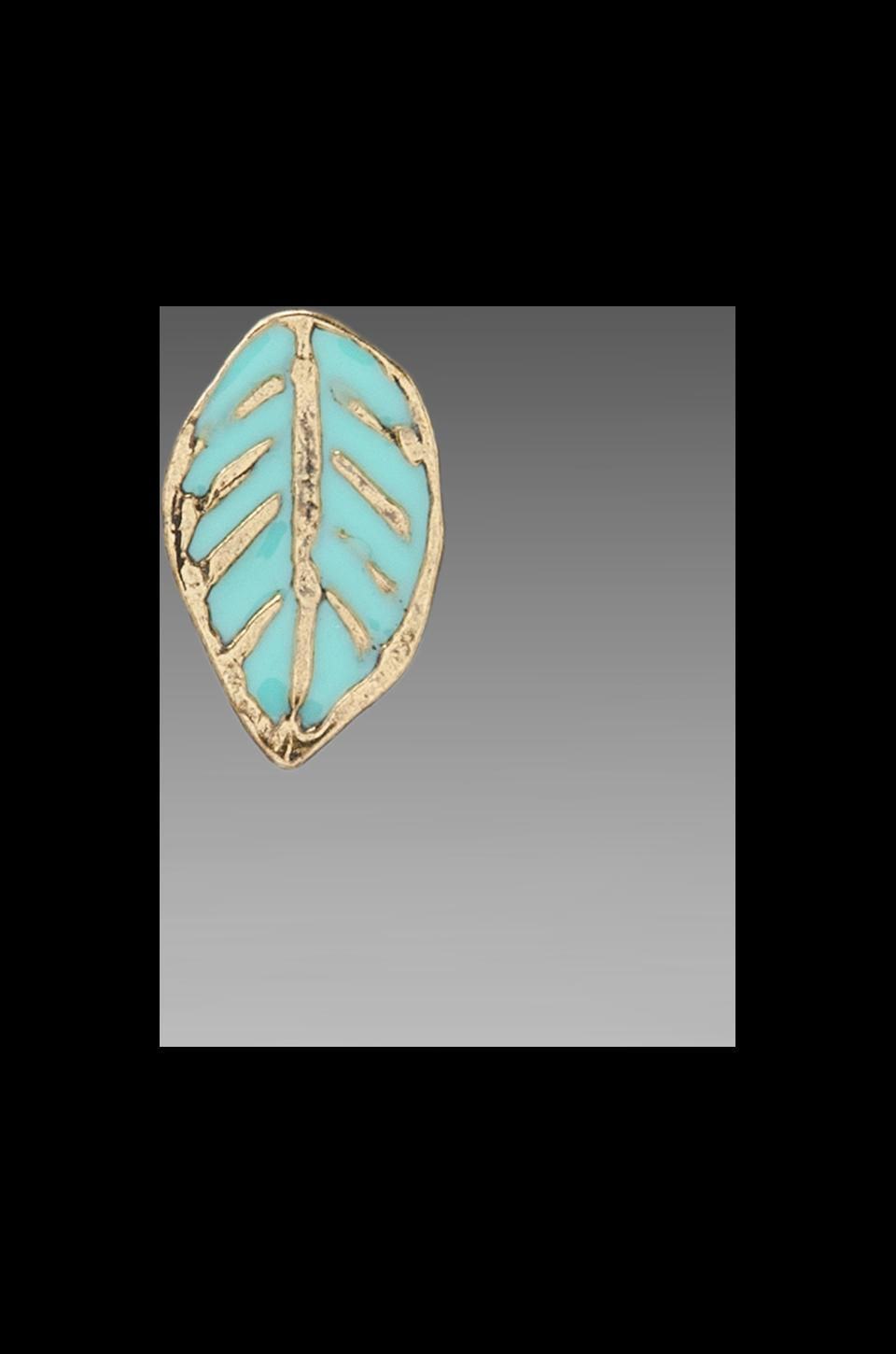 Dream Collective Leaf Stud Earrings en Turquoise