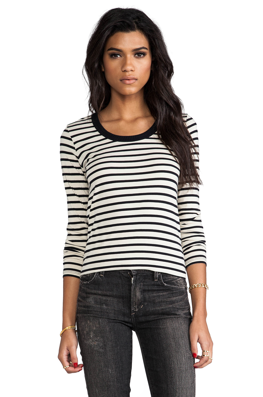 DemyLee Stripe Parker Long Sleeve in Natural/Navy