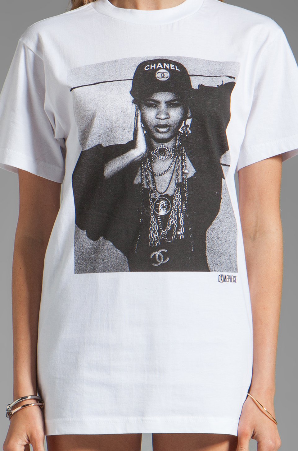 Dimepiece Los Angelino Girl Tee in White