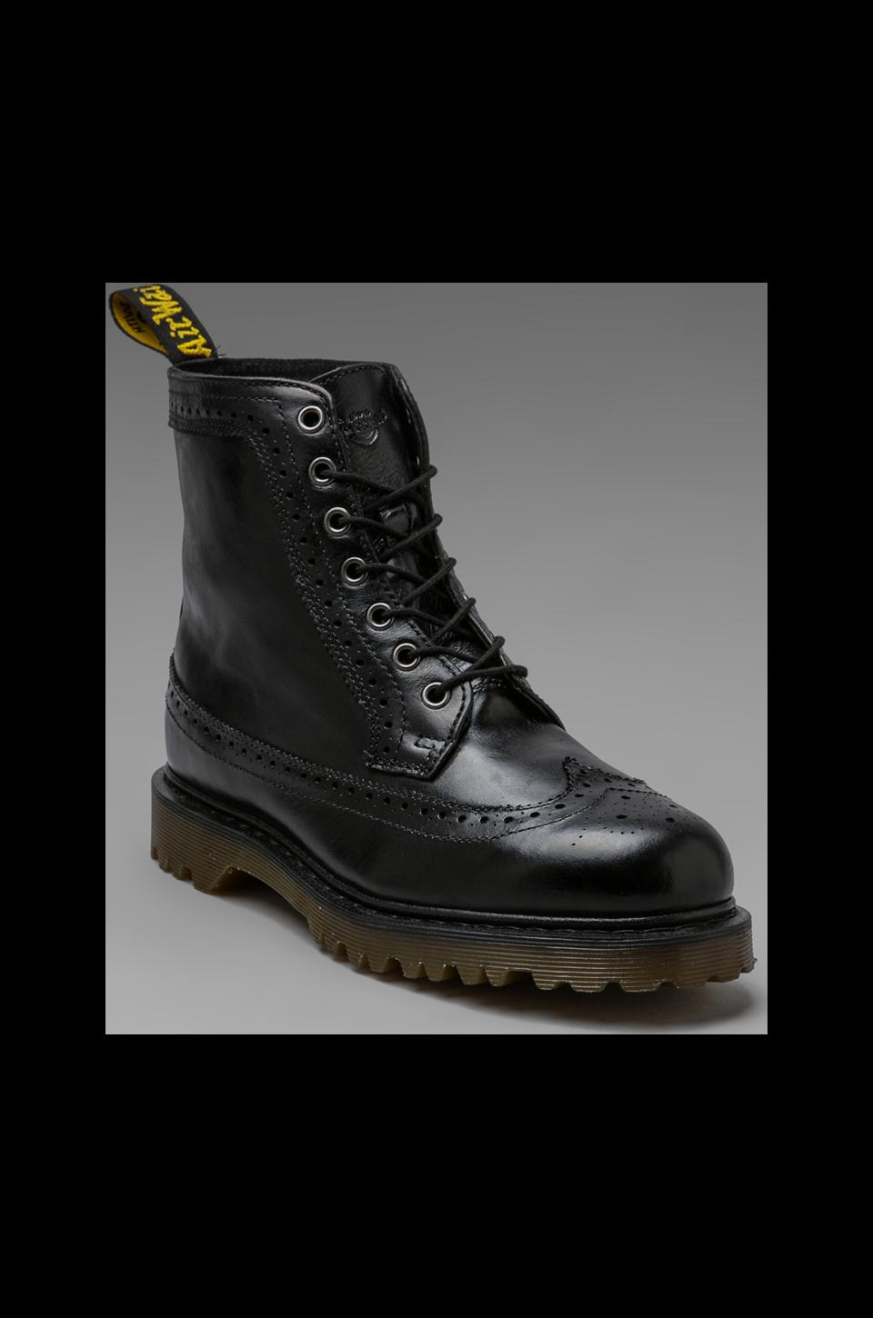 Dr. Martens Fitzroy 7 Eye Brogue Boot in Black