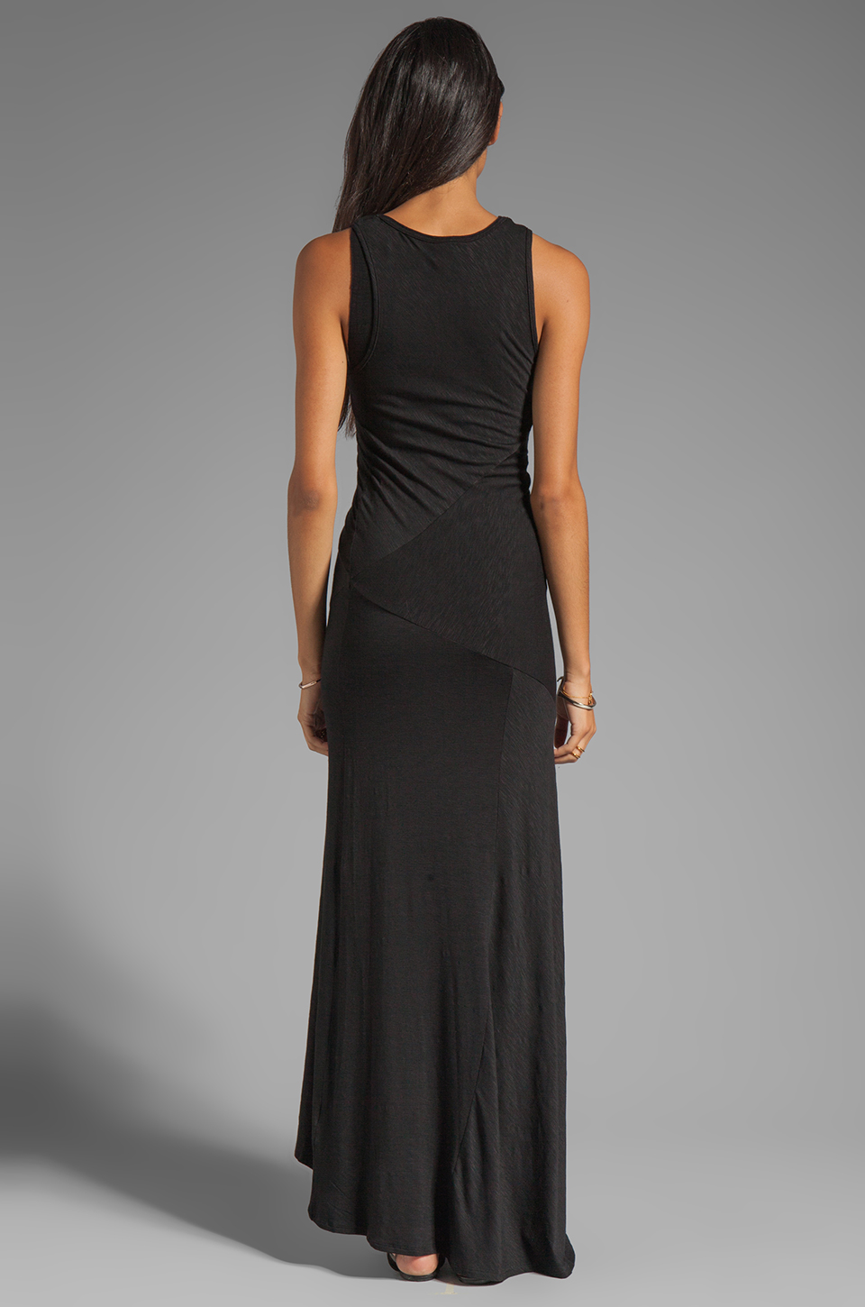 dolan Classic Slub Maxi Dress in Black