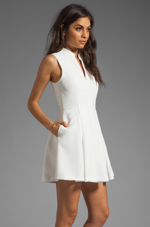 Dolce Vita Ashelle Snake Jacquard Dress in White