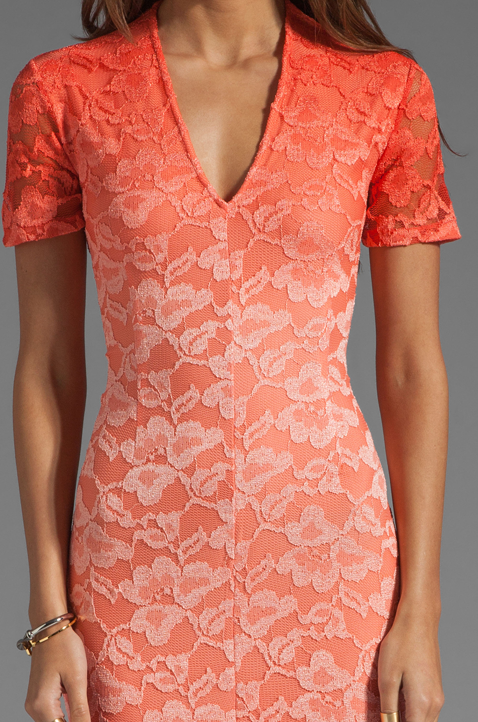 Dolce Vita Alexis Stretch Lace Dress in Pink Ombre