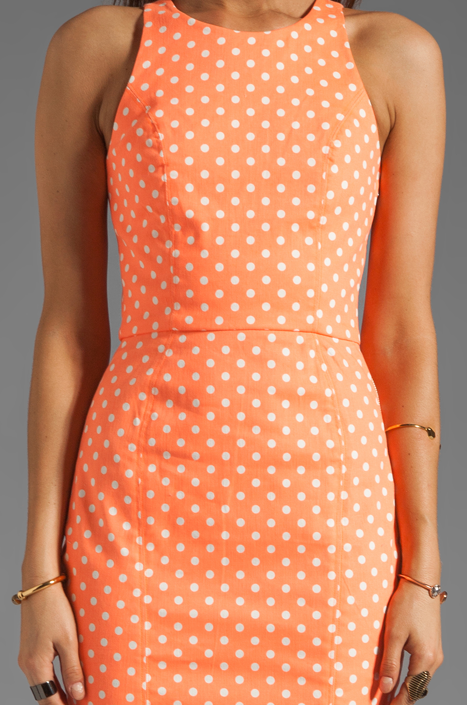 Dolce Vita Estefania Neon Dots Tank Dress in Neon Orange