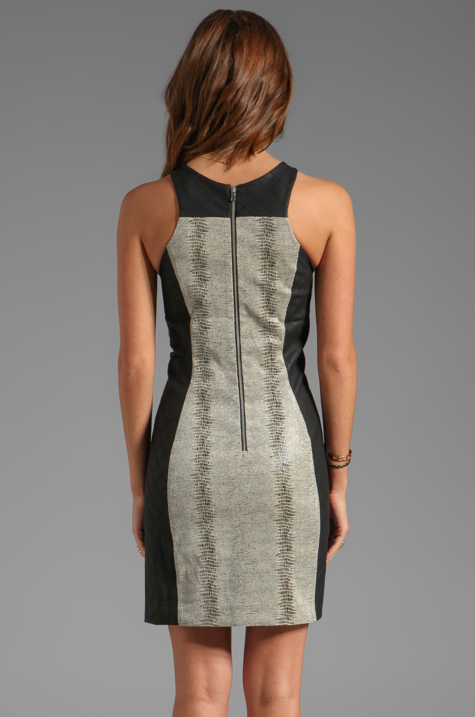 Dolce Vita Mary Faux Snake Dress in Natural