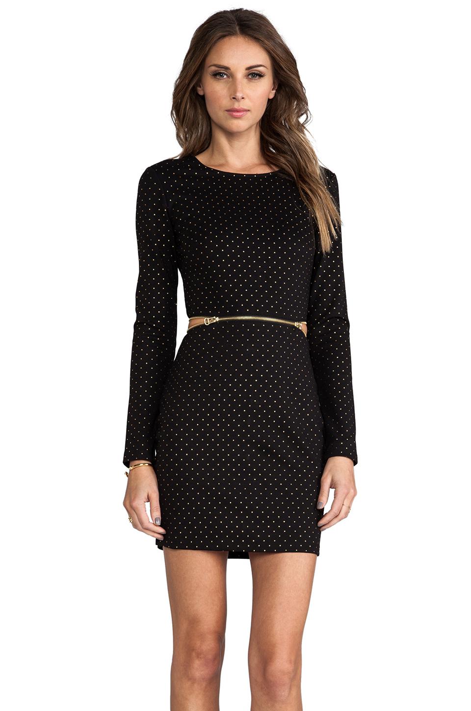 Dolce Vita Bing Gold Dots Dress in Black