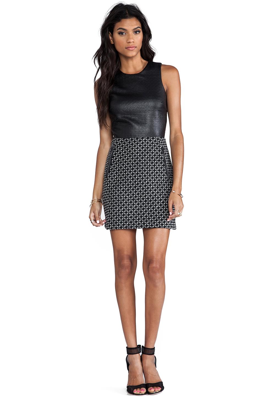 Dolce Vita Maciee Checker Tweed Dress in Black/White