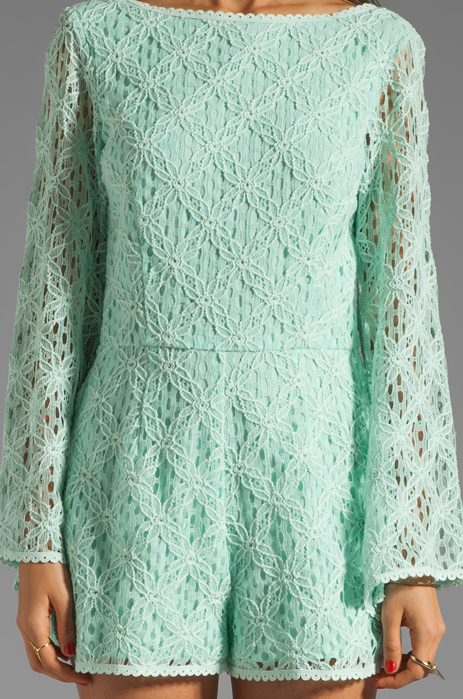 Dolce Vita Seni Crochet Lace Romper in Mint