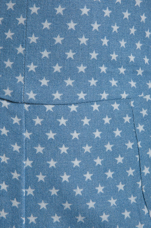 Dolce Vita Aussie Denim Star Romper in Light Blue