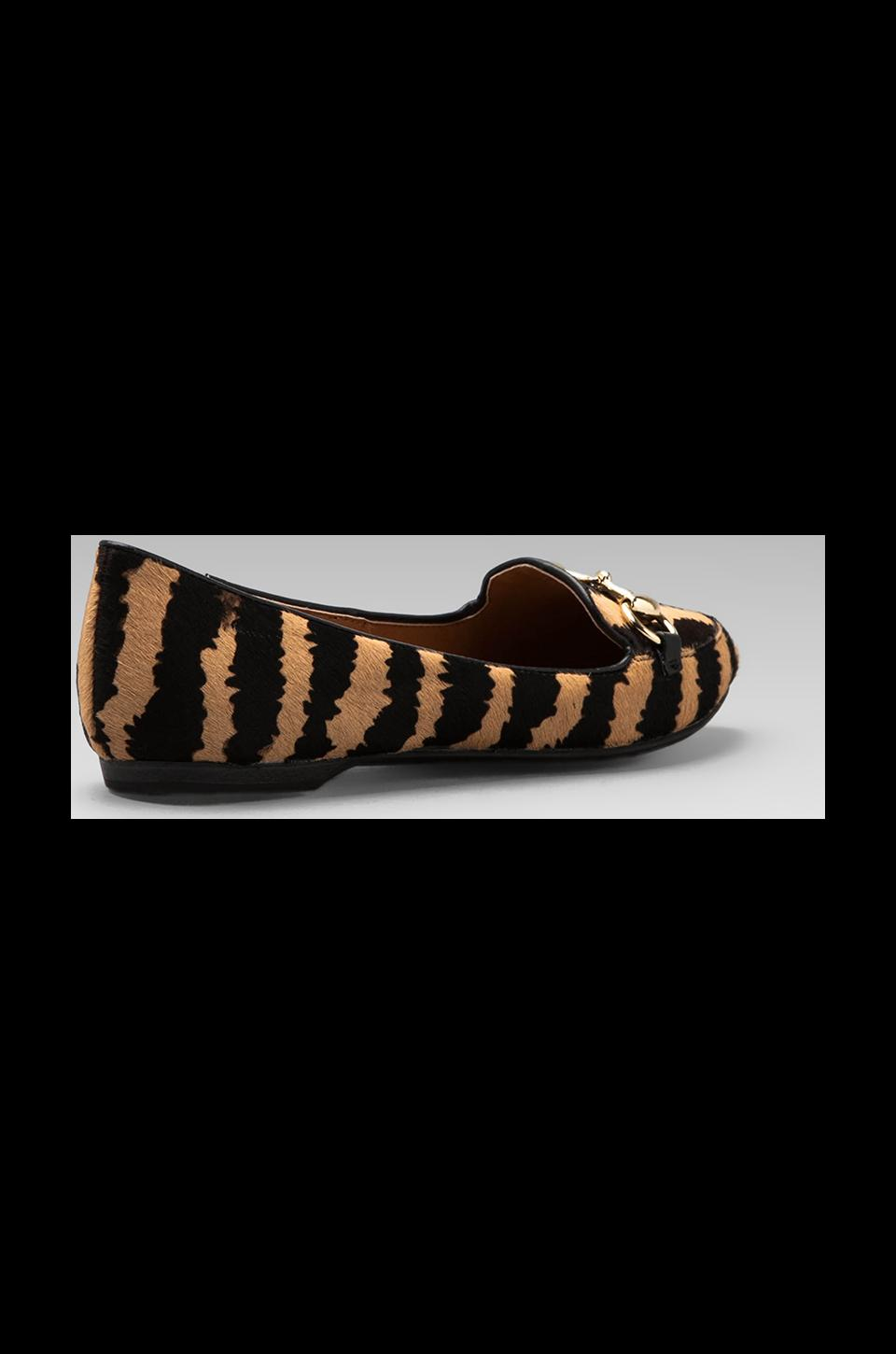 Dolce Vita Langley Loafer with Calf Hair  in Tiger Print